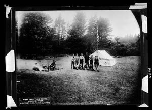 Cosmopolis Boy Scouts at Westport July 1914, 7/8/1914 - 7/15/1914, #4690_1