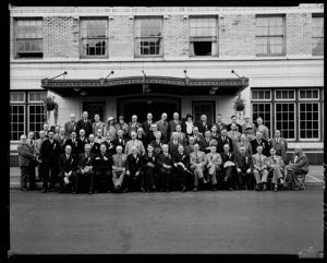Northwest Rivers & Harbors Congress convention group at Morck Hotel, circa 1925, #12471_1